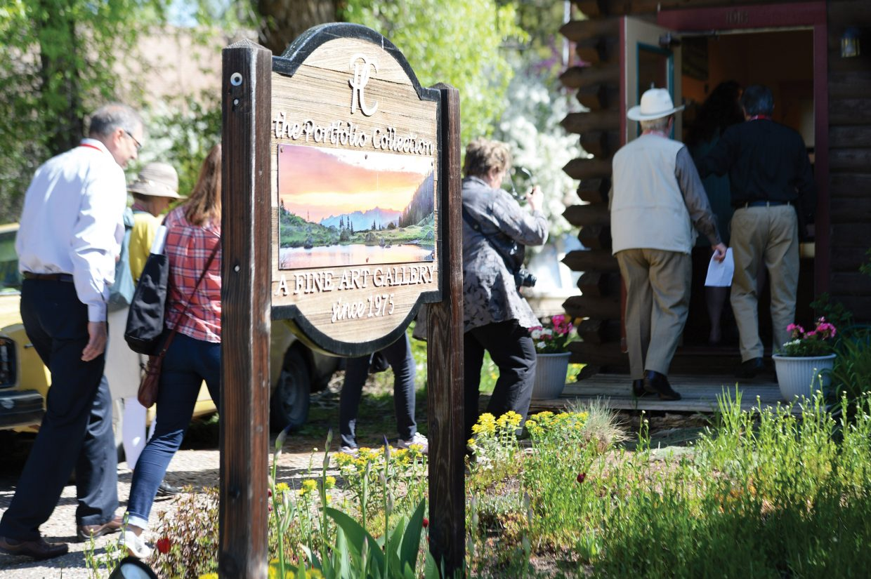 An advisory group, led by the Steamboat Springs Arts Council, led a walking tour Wednesday, showcasing the town's creative side to members of the Colorado Creative Industries. The group hopes to have the downtown area designated as an arts district.