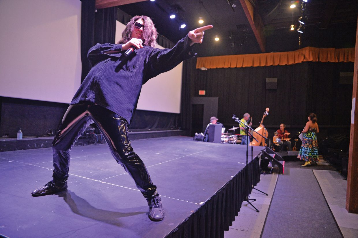 David Jolly gets into character while preparing to rehearse for the 2014 Cabaret, which will open at 7 p.m. Thursday at the Chief Theater in downtown Steamboat Springs. There will also be shows at 6 p.m. and 8:30 p.m. on Friday and Saturday.