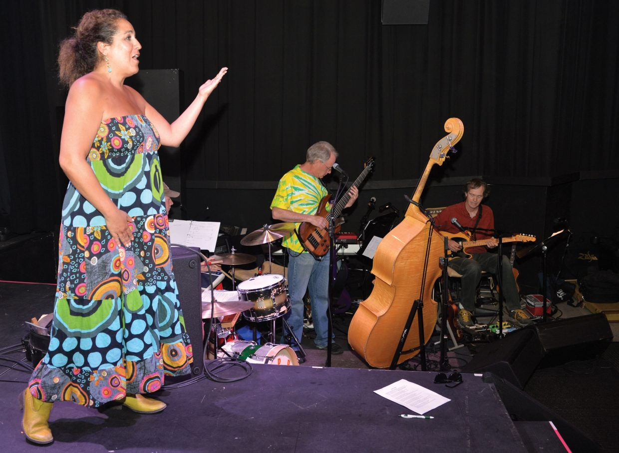 Paula Salky grehearsed the opening song while preparing for the 2014 Cabaret, which open at 7 p.m. Thursday at the Chief Theater in downtown Steamboat Springs. There will also be shows at 6 p.m. and 8:30 p.m. on Friday and Saturday.