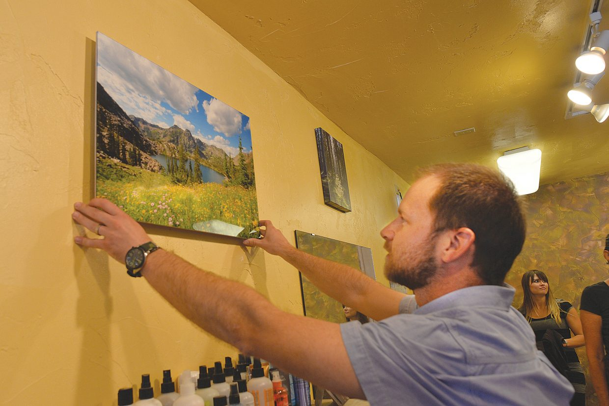Jared Terrio of Anchor Creative will have his work featured at the Comb Goddess Salon in downtown Steamboat Springs during in this week's First Friday Artwalk.