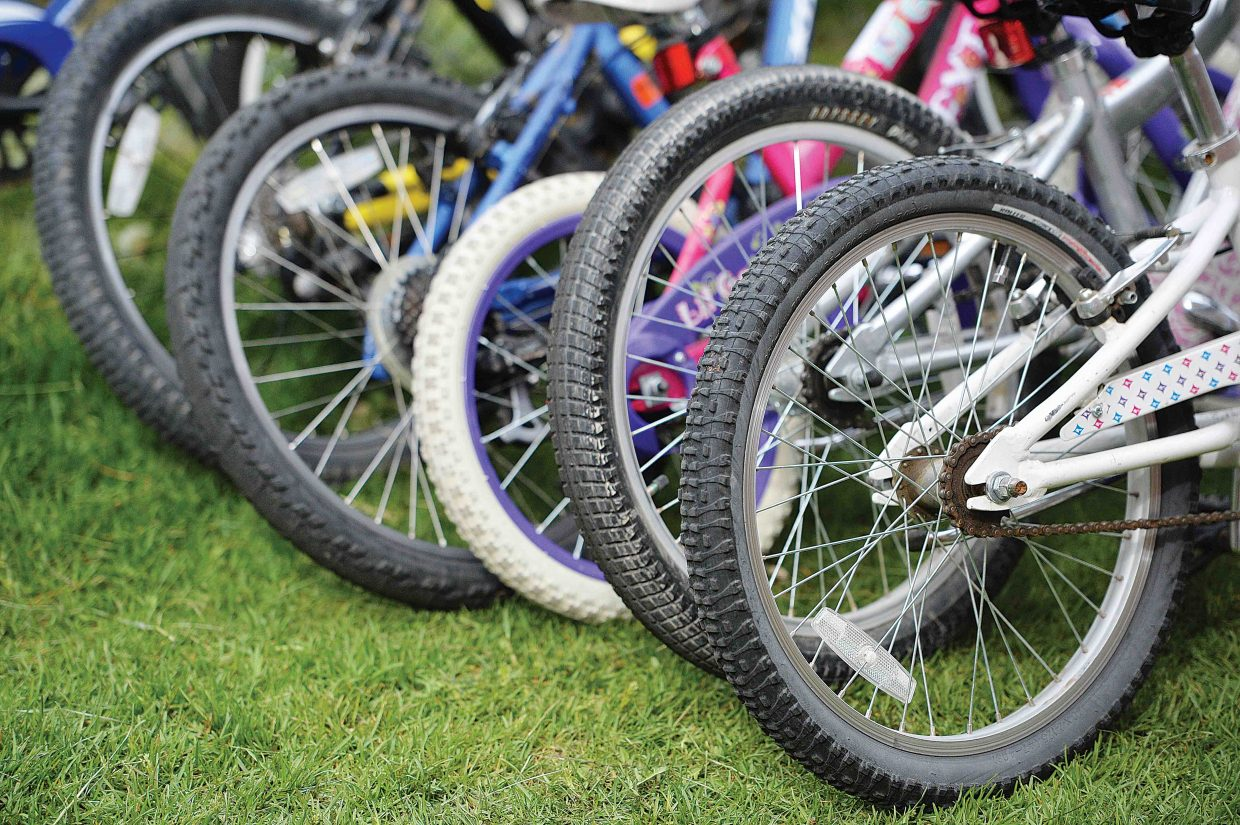 Nearly all the students at Soda Creek Elementary School road their bikes to school Friday, and took part in the school's annual bike rally.