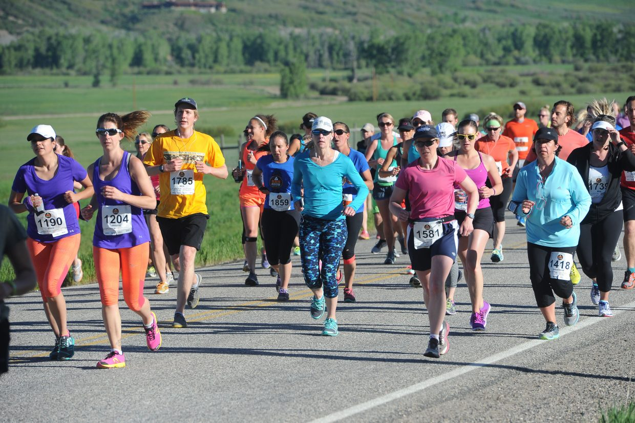 The field of runners in the half-marathon was diverse in age.