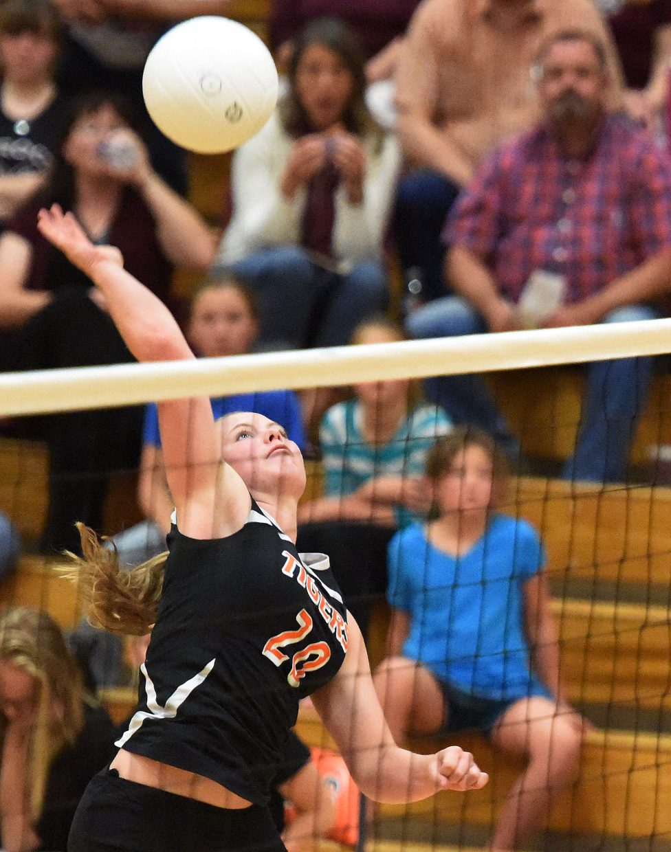Hayden's Jessika Hockett swings for a ball during the volleyball season.