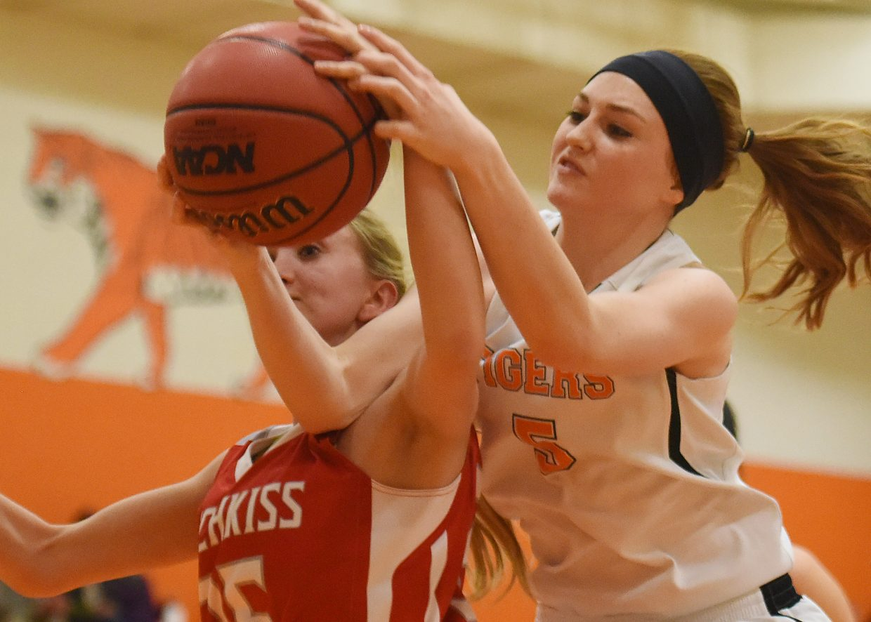 Hayden's Darian Murphy goes up with the ball during a win against Hotchkiss.