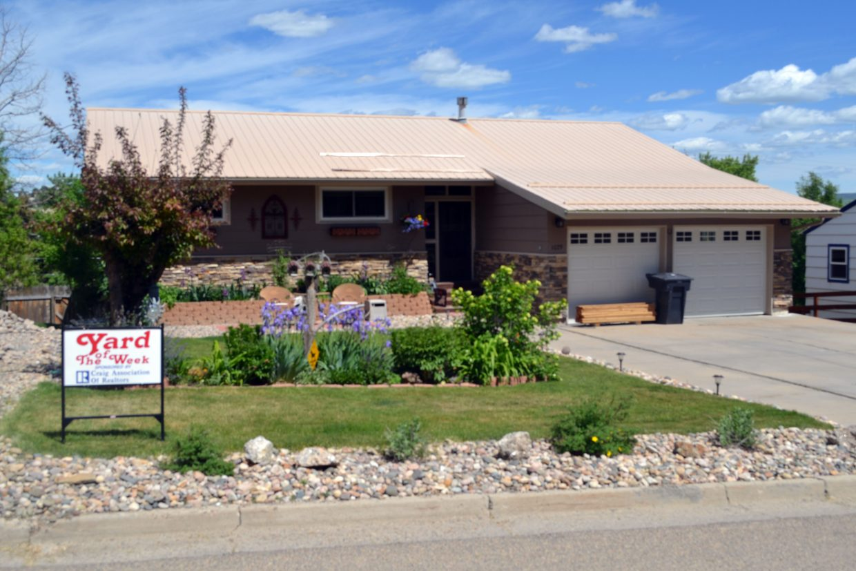The Craig Association of Realtors' Yard of the Week selection belongs to Jerry and Sharon Hoberg at 1029 School St.