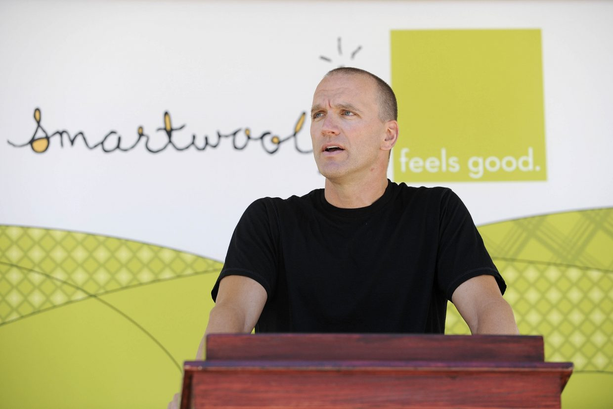 Mark Satkiewicz speaks in 2011 about SmartWool's plans to continue being based out of the Steamboat Springs Airport.