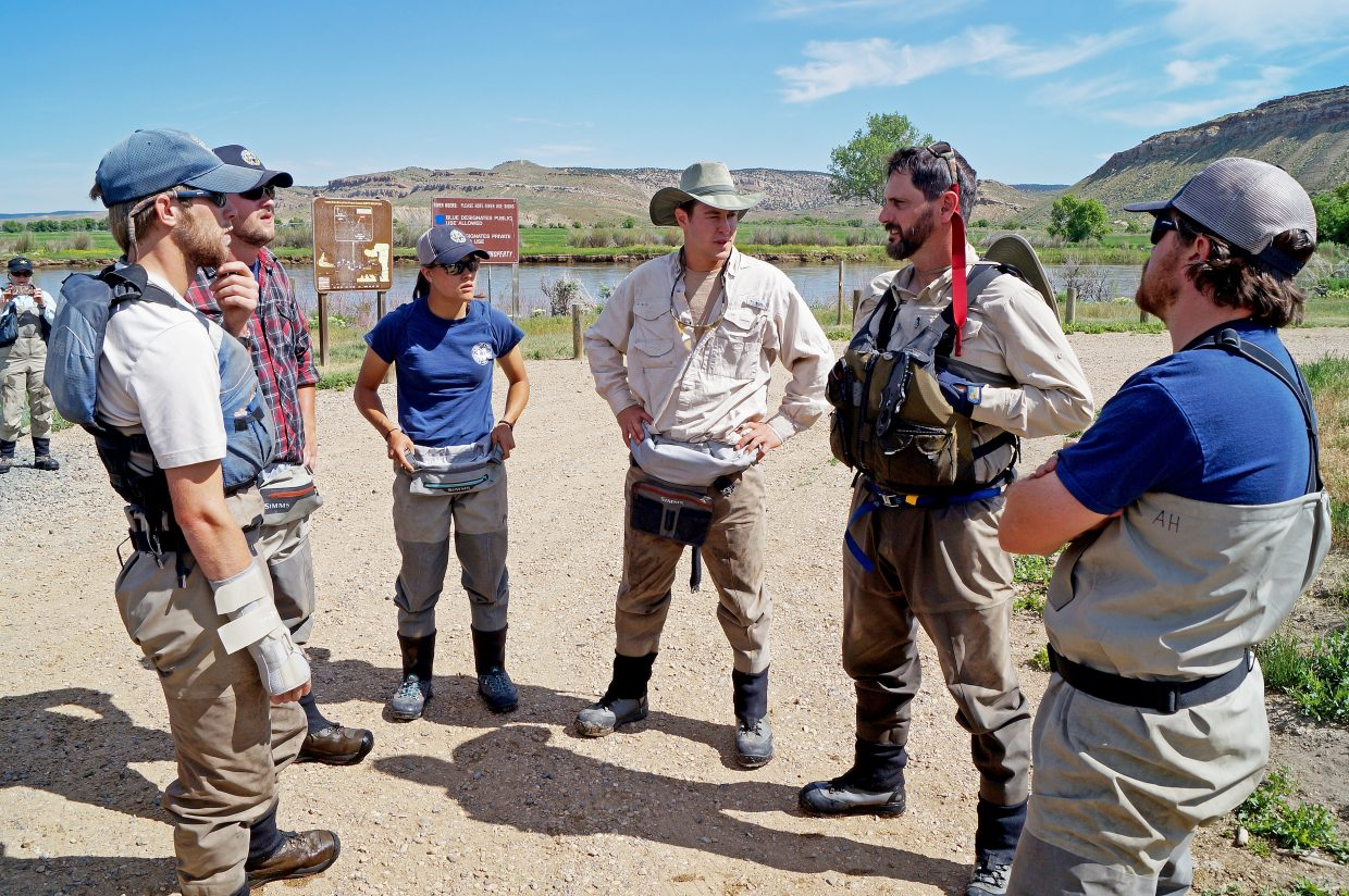 Colorado Parks and Wildlife Aquatic Biologist Cory Noble discusses how to proceed with his team after a mechanical setback.