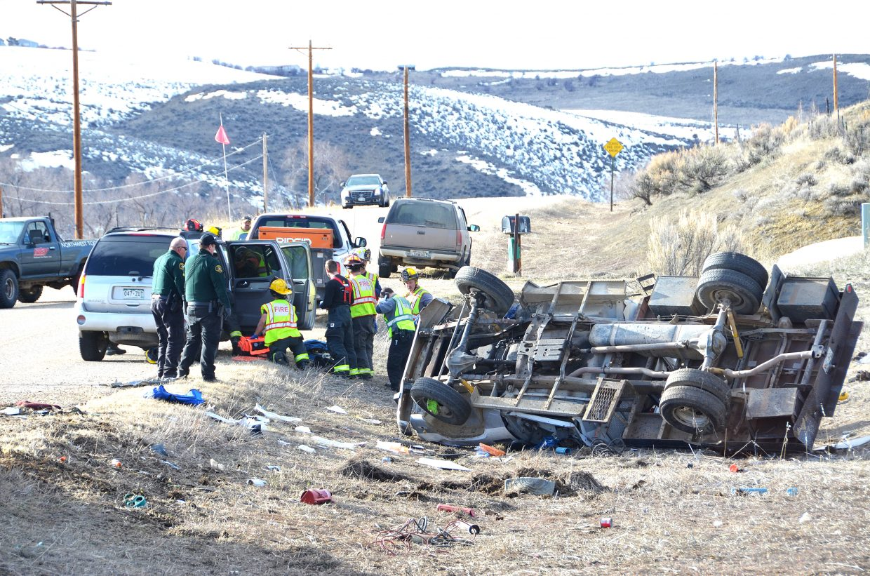 A single-vehicle rollover accident happened on Moffat County Road 7 in March where a man and his 10-year-old son died. They were not wearing seat belts. The third passenger survived and was wearing a seat belt. Alcohol was also a factor in the crash, law enforcement officials said weeks after the incident.
