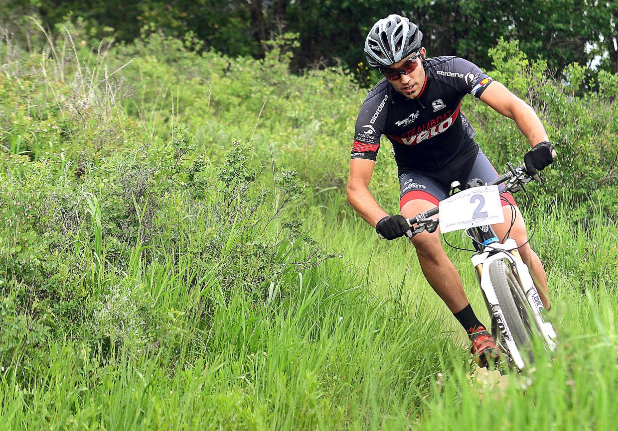 Alex Pond rides in a Town Challenge race Wednesday at Marabou.