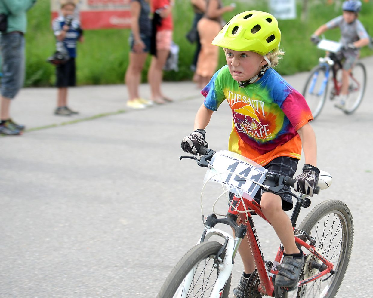 Jack Fox rides in Wednesday's Town Challenge mountain bike race at Marabou.