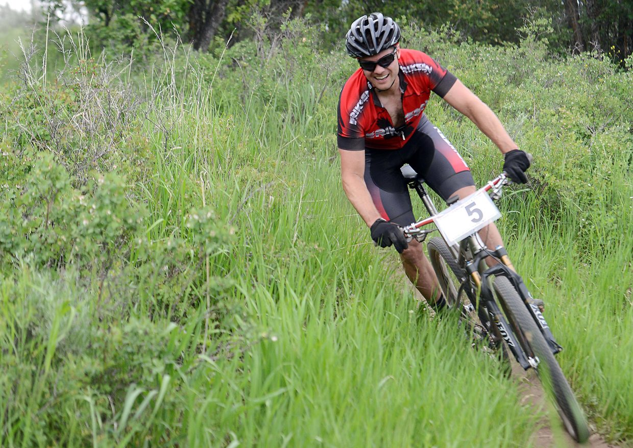 Brad Bingham races earlier this month in a Town Challenge race at Marabou Ranch. Bingham was second and the former series champ is hoping to build on that performance Wednesday when the series returns to Mount Werner.