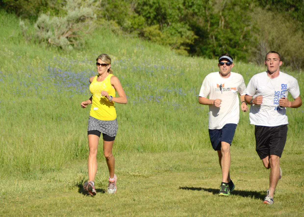 Runners gut it out during the Wake the Whittler 5K Fun Run. This year's event, hosted by Friends of Moffat County Education, takes place at 8 a.m. Saturday prior to the beginning of the final day of Whittle the Wood Rendezvous at Loudy-Simpson Park.