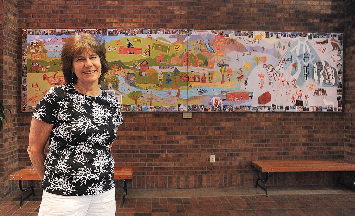 This was the final year at Strawberry Park Elementary School for longtime librarian Sherry Holland. After 14 years with the Steamboat Springs School District, Holland is leaving and returning to where she started — the Bud Werner Memorial Library. Students at the school where Holland taught created the mural and dedicated it to her years of service.