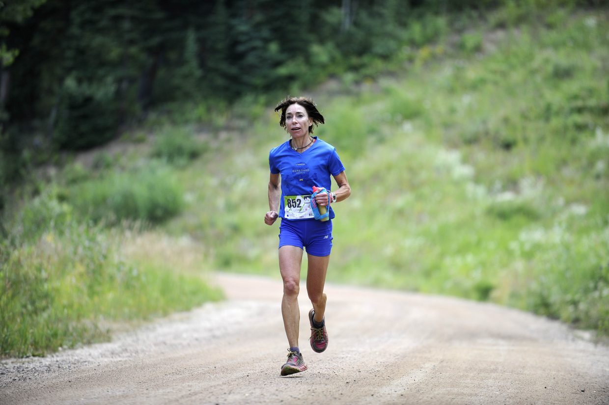 Tammy Jacques approaches the finish line during last year's Continental Divide Trail Run.