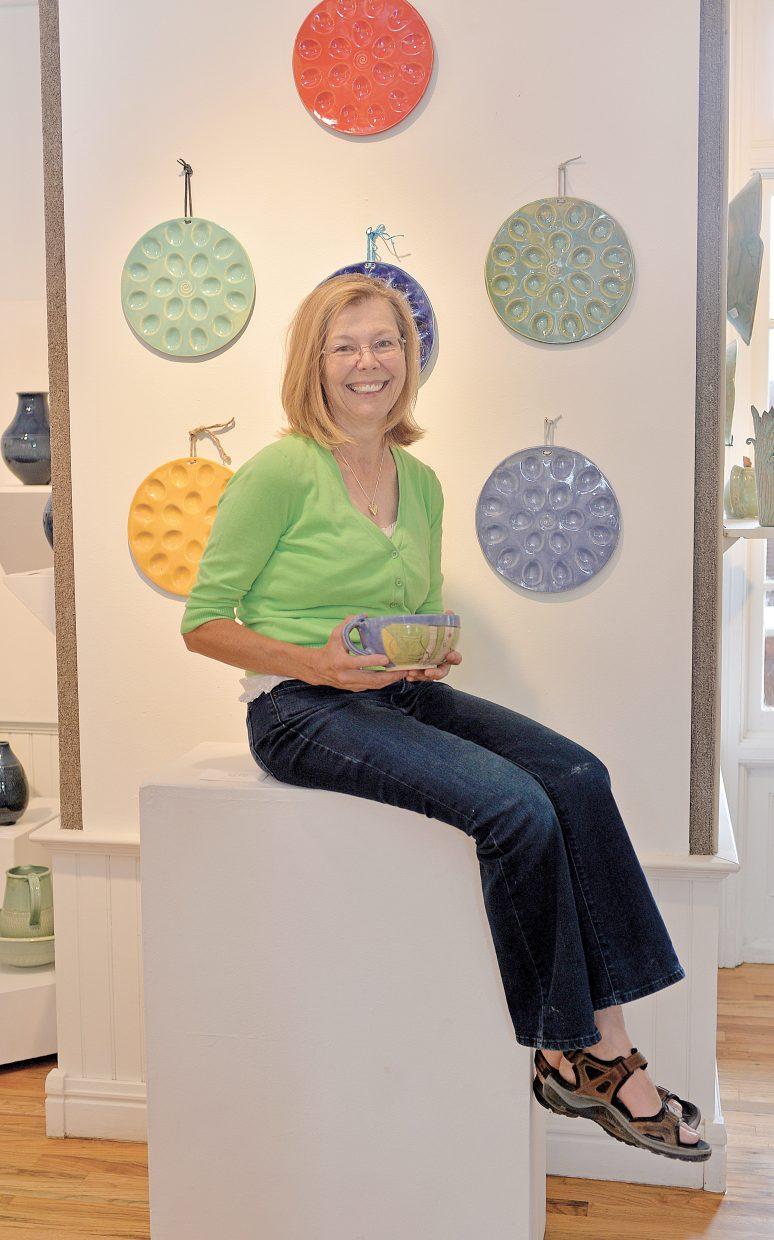 Pottery artist Deb Babcock is just one of the many local artist who has their work showcased in a show at the Steamboat Springs Depot Art Center.