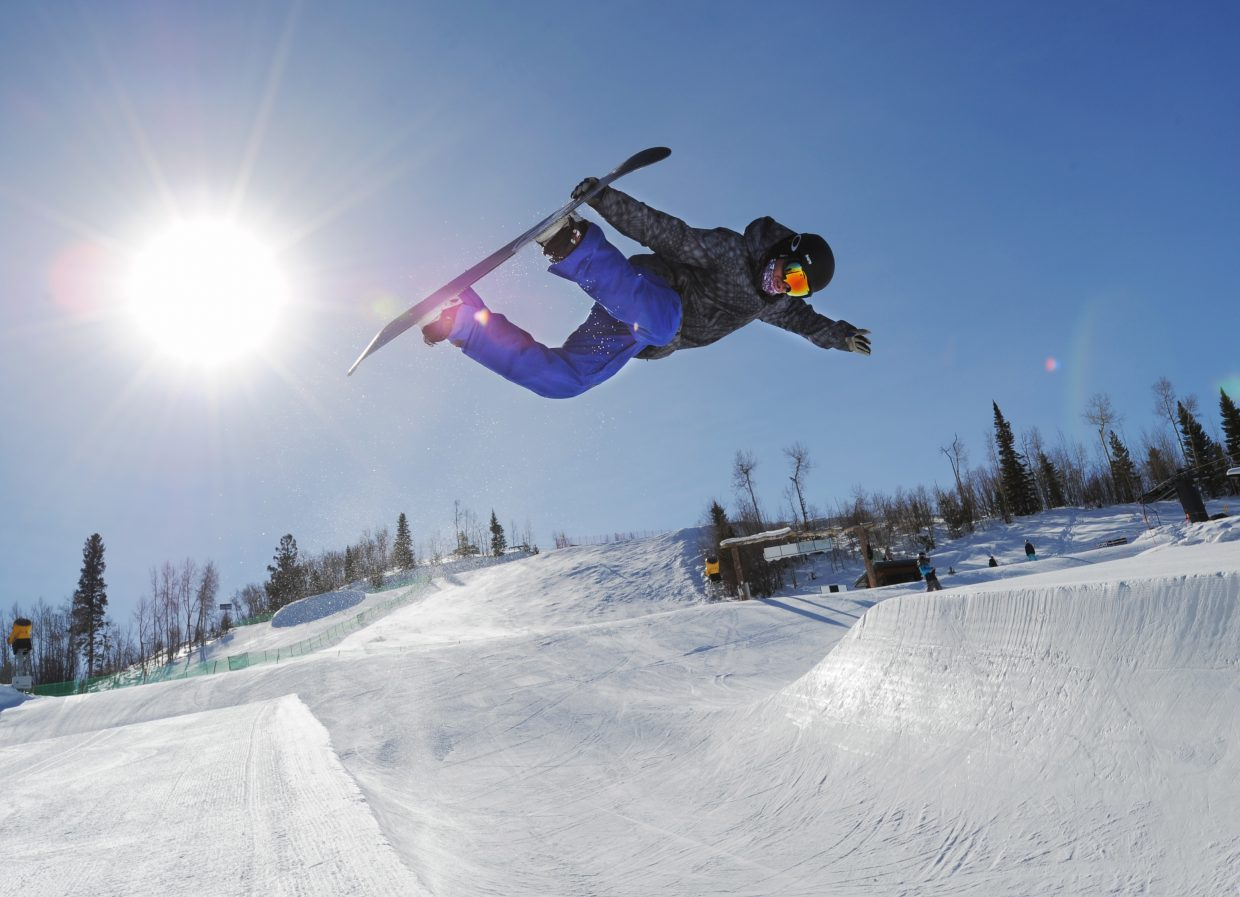 Steamboat's half-pipe has grown and changed through the years. When it went from 12-foot walls to 15-foot walls, it was also built to be long and was at the time the longest half-pipe in North America. Long half-pipes didn't turn out to be the trend, however. Tall half-pipe did, and soon the 15-foot walls were replaced with 18-foot walls. The standard for top competitions is now 22 feet, though Steamboat never built its pipe beyond 18.
