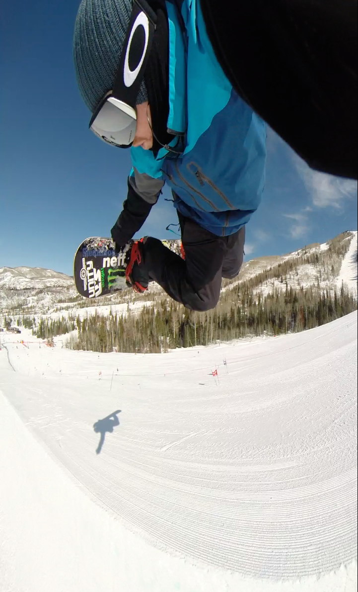 Spencer Tamblyn flies high above the Mavericks half-pipe while snapping a photo with a GoPro camera this spring. Tamblyn spent years coaching snowboarding with the Steamboat Springs Winter Sports Club and now coaches with the U.S. Snowboarding Team. He's long been a regular in the Steamboat half-pipe.