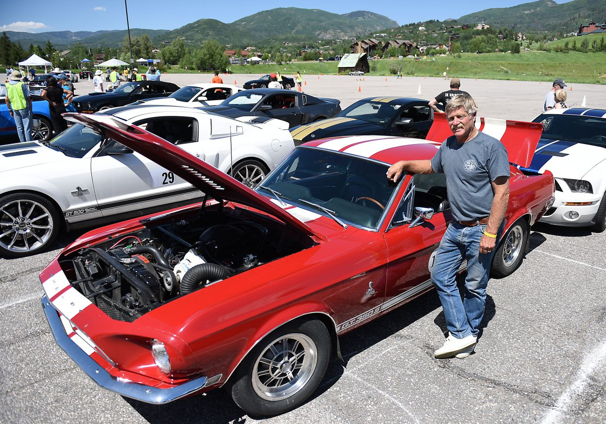 Gary Griffith, from Franktown, bought his 1968 GT 350 Shelby Mustang 28 years ago and still loves to drive it. Dozens of Mustangs will be in Steamboat this weekend for the 28th annual Rocky Mountain Mustang Roundup.