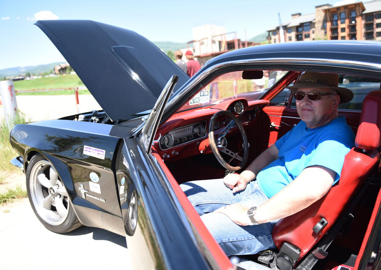 Hap Schadler bought his 1965 Ford Mustang from his mother, who got it from his father as a Valentine's Day gift when it was new. For years, it was Shadler's everyday car, but now, thanks to time under the hood and behind the wheel, it was one of the fastest cars at the annual autocross event held in conjunction with Steamboat Springs' Mustang Roundup.