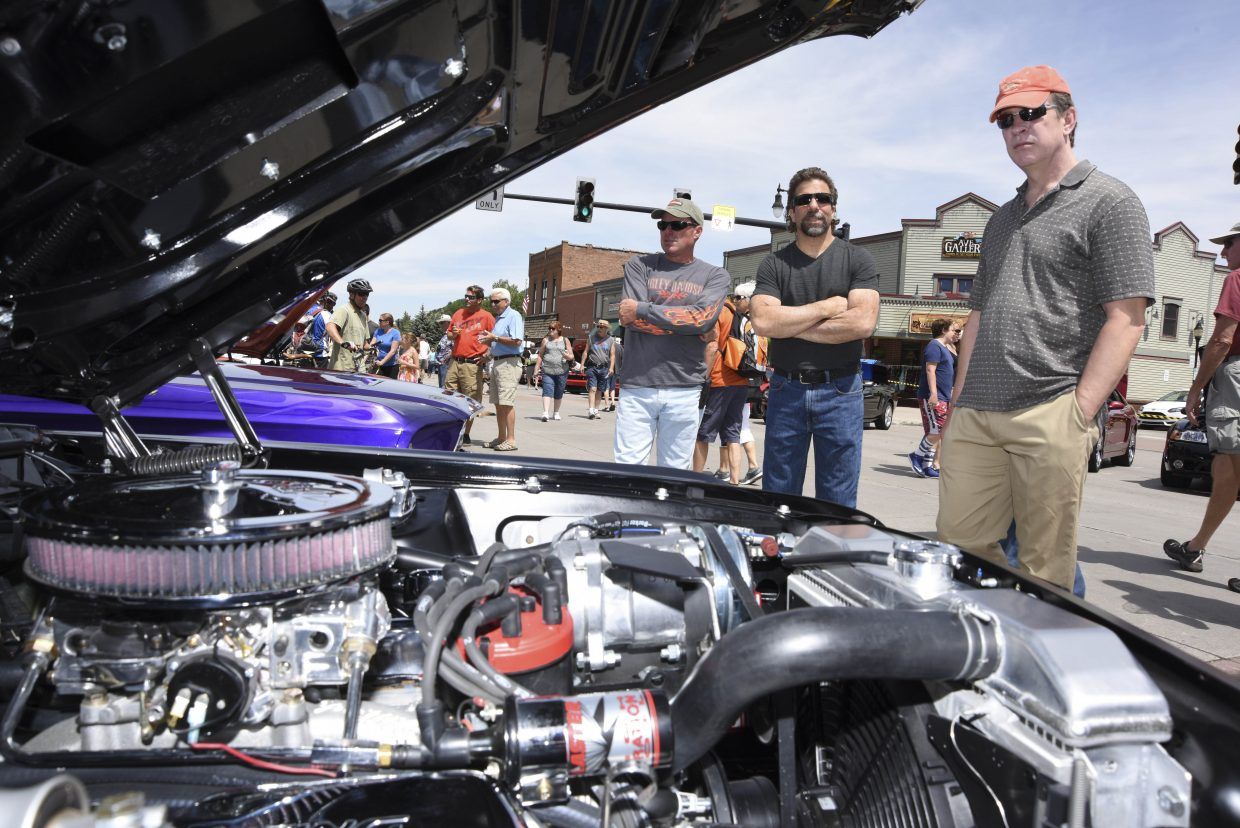 Gary Blaeser's 1968 Mustang Coupe sits on display during the Mustang Roundup Show N' Shine on Saturday in downtown Steamboat Springs.