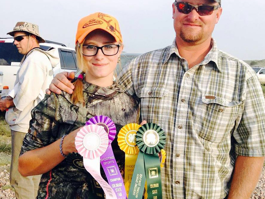 Yampa's Kendra Halder, left, standing next to her coach and father, John Halder, will represent Routt County next week at the 2016 4-H Shooting Sports National Championships in Nebraska.