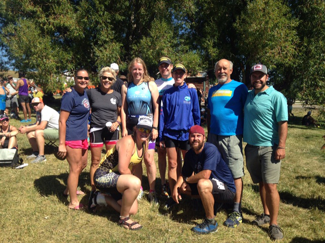 Steamboat triathletes pose after racking up top finishes at Sunday's Steamboat Triathlon.