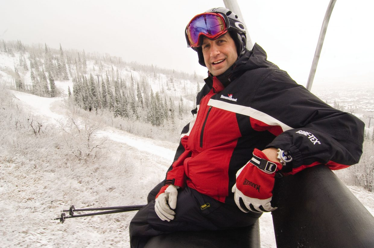 Rob Perlman rides a chairlift at the Steamboat Ski Area in 2009. He was promoted Friday to president and chief operating officer of Steamboat Ski & Resort Corp.