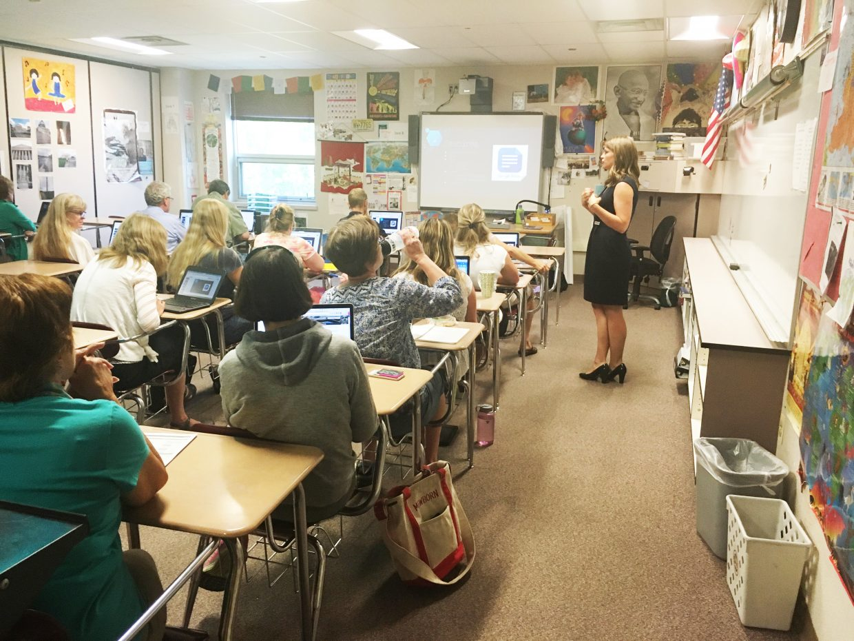 More than 150 teachers from around the region visited Steamboat Springs High School last week for a professional development workshop on Google Apps for Education. The workshop was hosted by Northwest Colorado Board of Cooperative Educational Services.