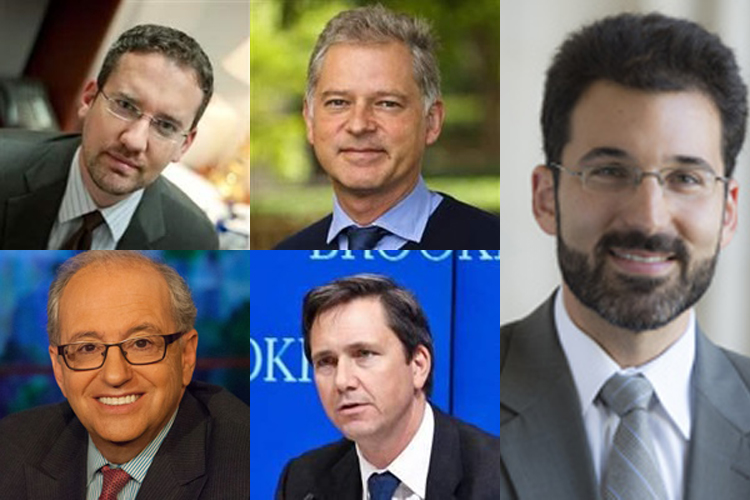 Seminars at Steamboat this summer will host speakers, clockwise from top left, William McCants and Philippe LeCorre of the Brookings Institution; Matthew Rojansky, director of the Kennan Institute at the Wilson Center; Richard Reeves, senior fellow in economic studies at the Brookings Institution; and Norman Ornstein, co-director of the American Enterprise Institute-Brookings Election Reform Project.