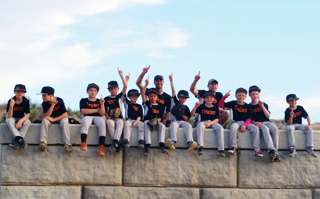 The Hayden 10-12 year old team won it's league championship tournament on Saturday in Rangely. The squad was, from left, Cohen Williams, Logan Silva, Cody Hawn, Grady Frentress, Chase Preston, Waylon Lott, Ethan Silva, Dorian Hotchkiss, Kodi Ingols, Mason Williams and Owen Miller.