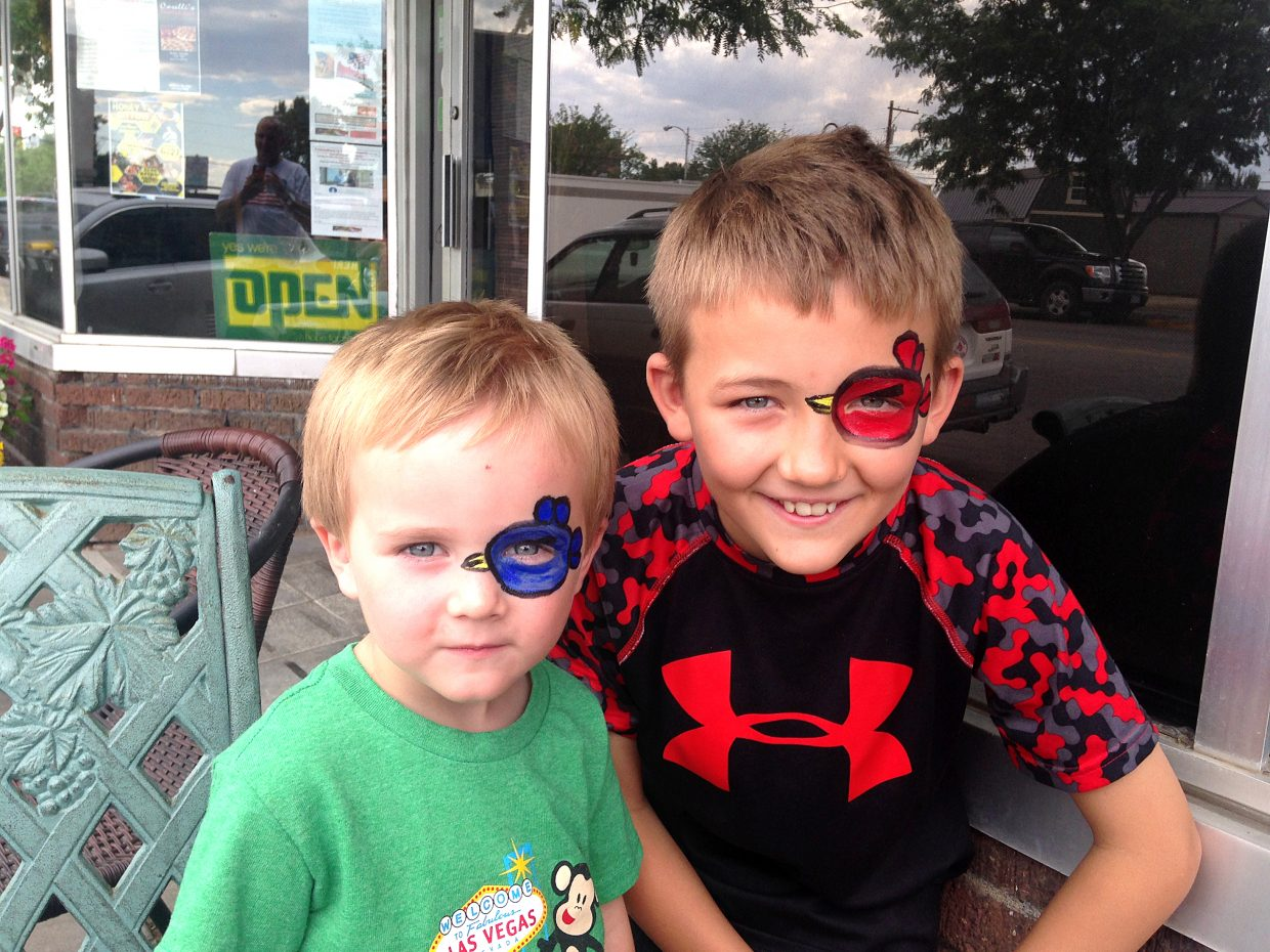The Downtown Business Association hosts kids' activities each Thursday as part of the organization's Do it Downtown Thursdays event each week. Last Thursday, a face painting table was set up in front of Carelli's. Brothers Dane Colding and Blaine Loop sported Angry Birds on their faces. This Thursday, a table for kids' activities will be set up from 4 to 6 p.m. in front of KS Kreations where children can make cupcakes.