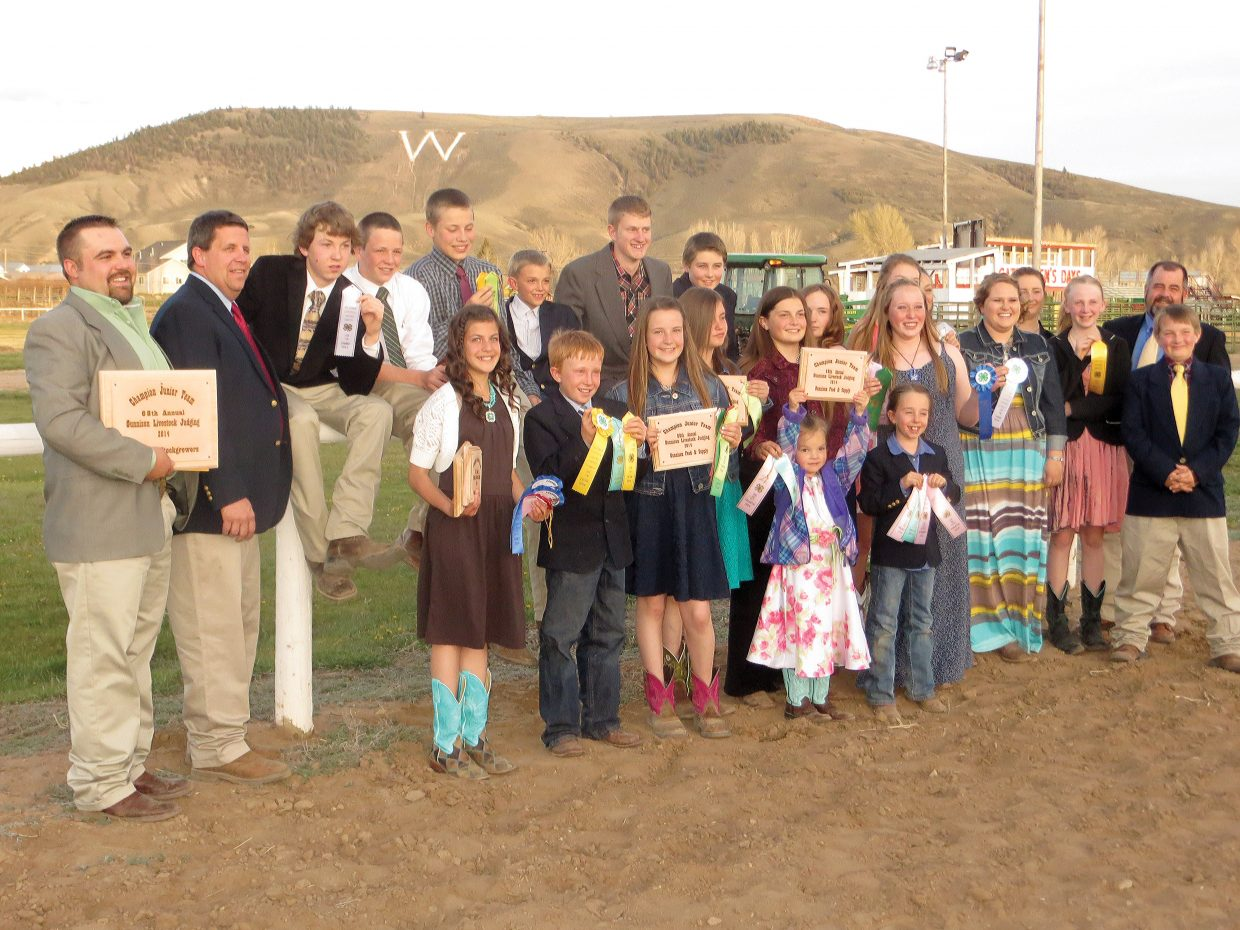 The Routt County livestock judging team placed third at the state 4-H competition in Gunnison in June and earned the opportunity to compete at the National Western Stock Show in Denver this January.