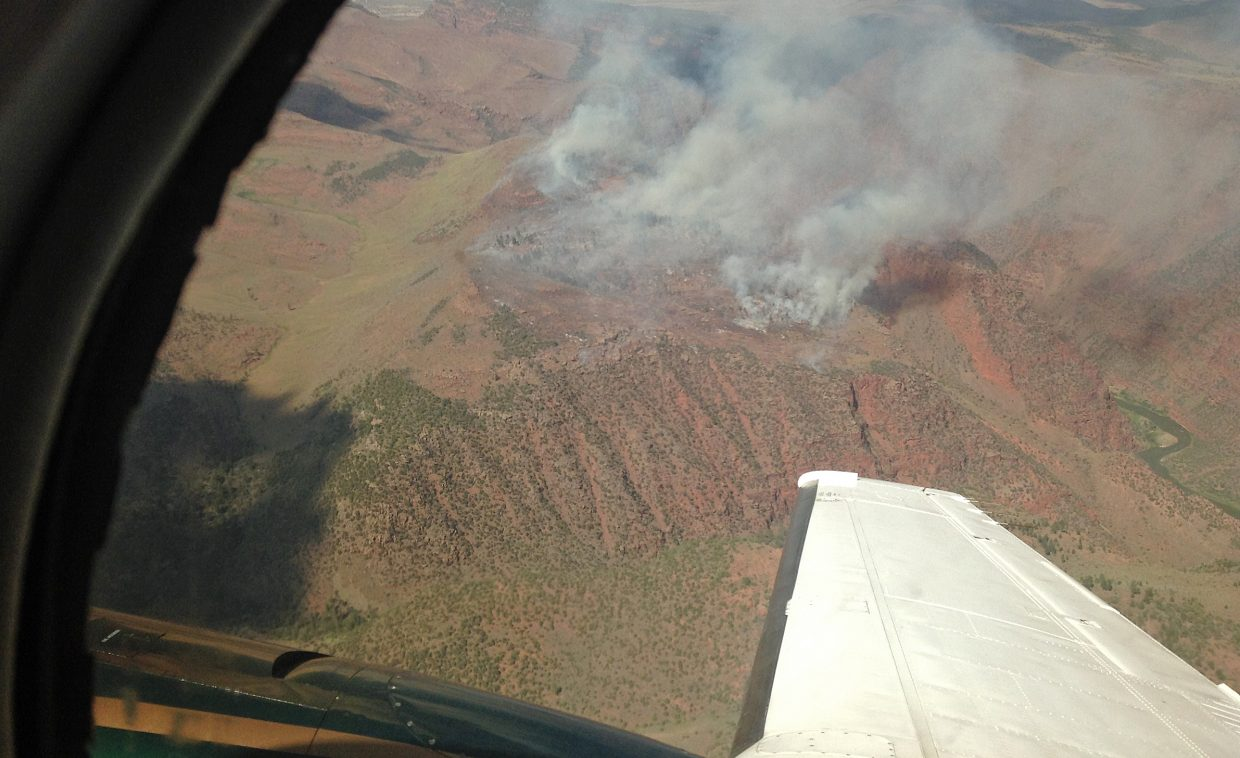 The Ecklund Fire, located in the Ecklund Draw and Pot Creek area of Lodore Canyon in the Colorado portion of the monument, was reported last weekend.