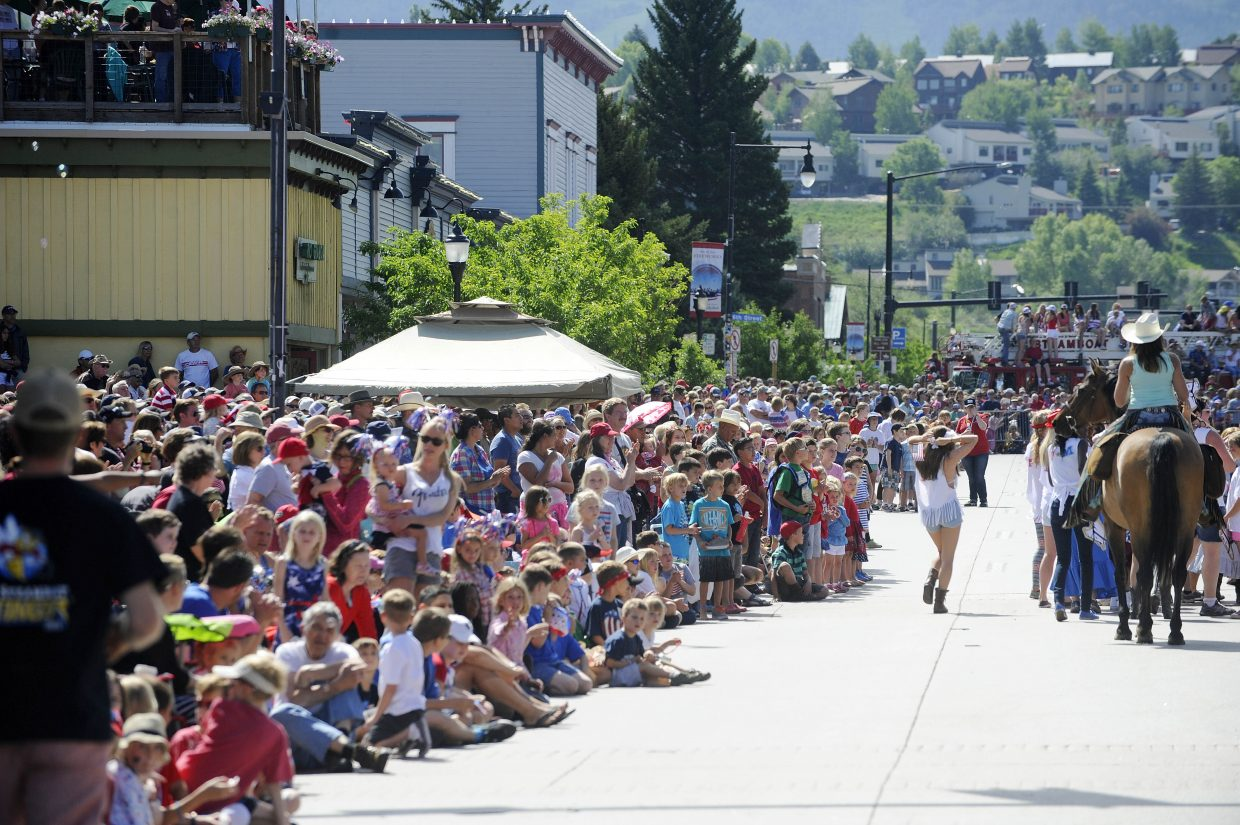 The sidewalks were packed during this year's July 4 parade in Steamboat Springs.