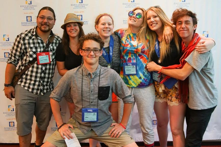 Recent Steamboat Springs High School grad Mollie Heil, second from right, earned first place for stage management at the International Thespian Festival in late June.