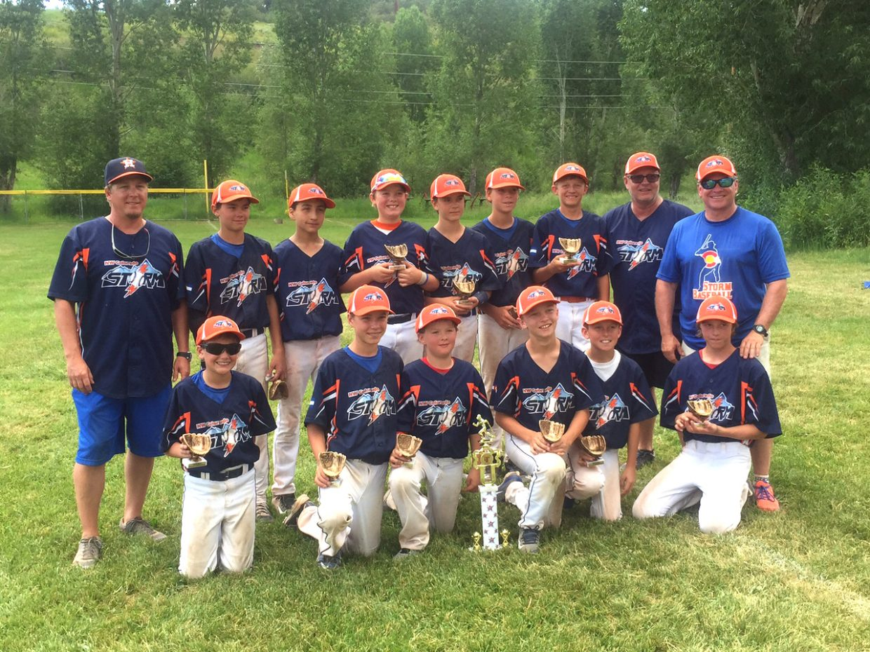 The U12 Northwest Colorado Storm baseball team placed second in the Triple Crown Mountain Magic tournament in Steamboat Springs June 28. The team travels this weekend for another tournament in Boulder.