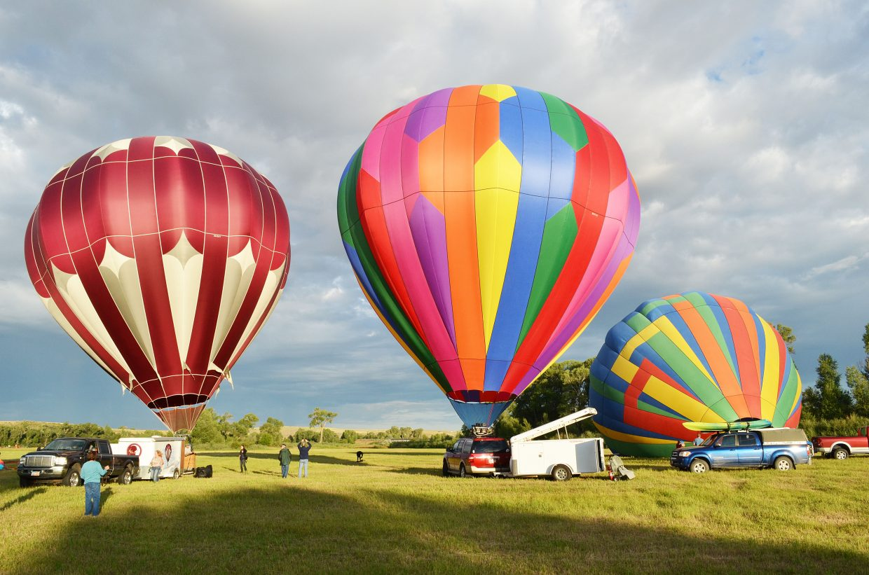 """Moffat County Balloon Festival, which takes place Aug. 1 and 2 at Loudy-Simpson Park, will feature a new component with the """"over-the-line"""" tournament. Over-the-line is a game similar to baseball or softball with three-person teams, and the tourney will benefit Craig Youth Baseball."""