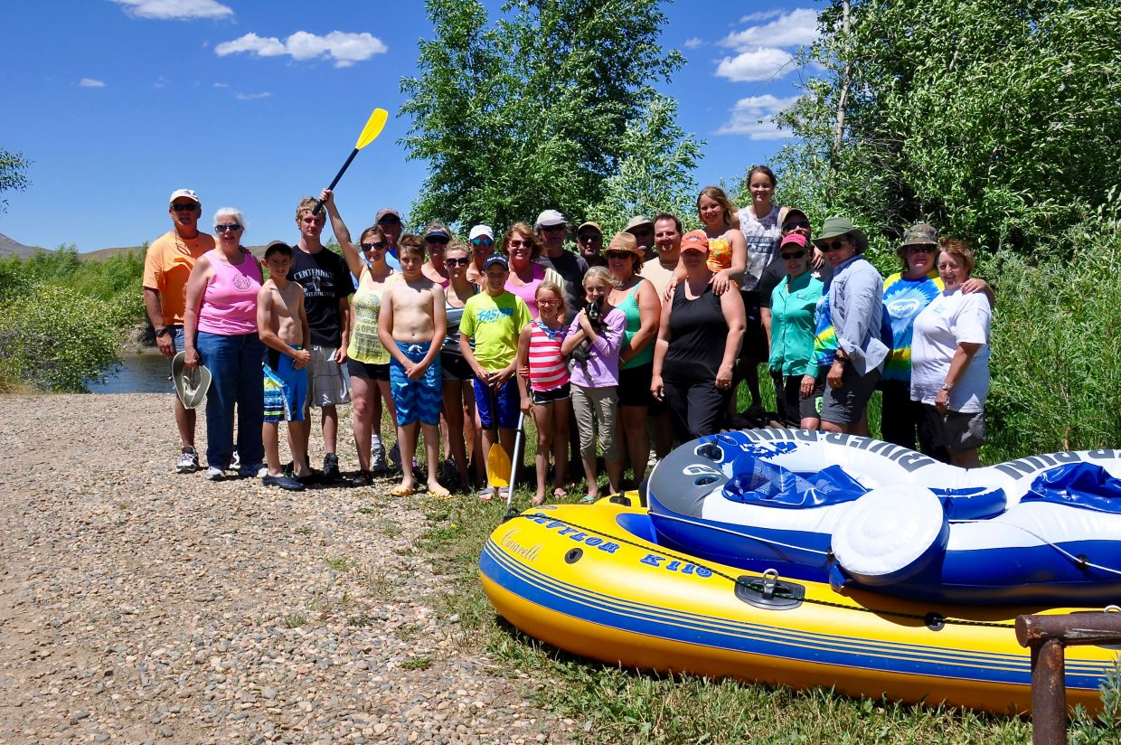 Members of the Northwest Chapter of the Parrotheads are pictured after a successful day cleaning up the Yampa River. The national conservation organization American Rivers teamed with Northwest Colorado Chapter of Parrotheads in Craig and Friends of the Yampa in Steamboat Springs for a Yampa River Cleanup Day Saturday.