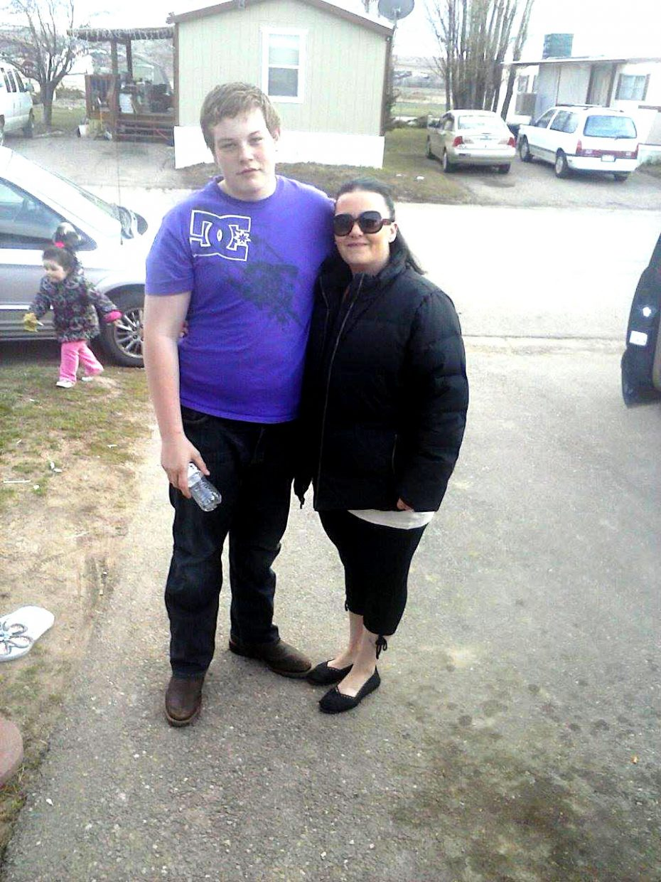 Trystan Campbell, 18, is pictured with his mother April Chavira-Montieth. Campbell passed away Saturday after being found unresponsive in the Yampa River in Craig late Friday afternoon.