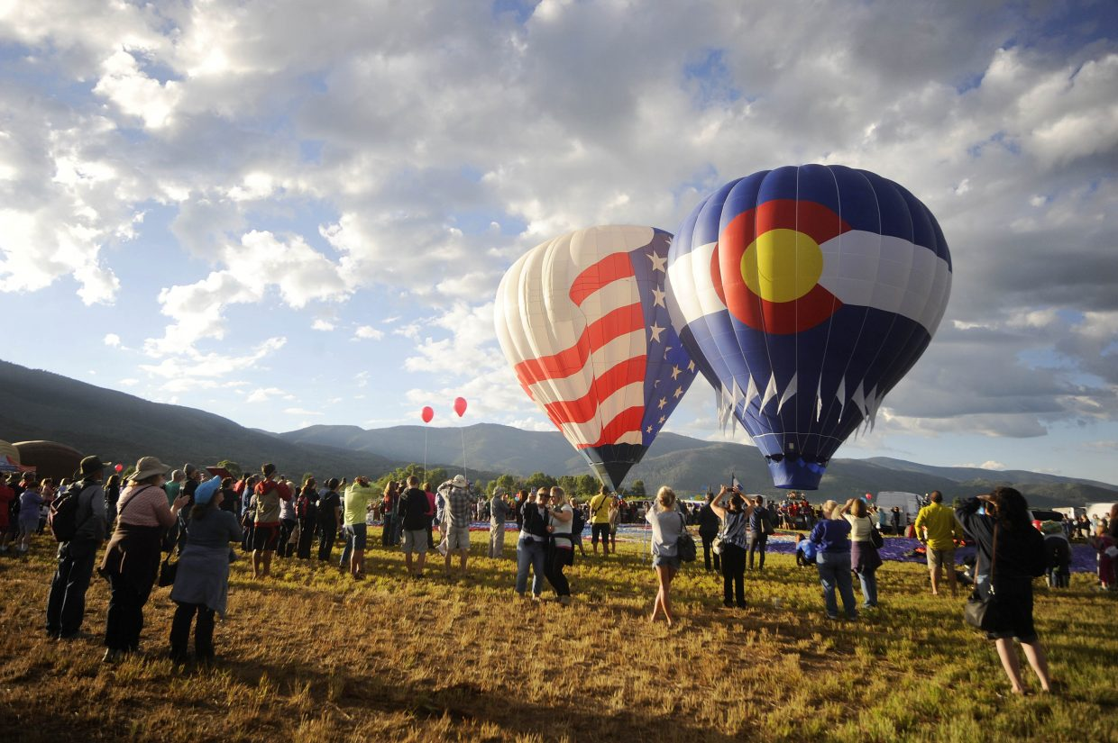 The launch of the Colorado and American flag balloons kicked off Saturday's Hot Air Balloon Rodeo.