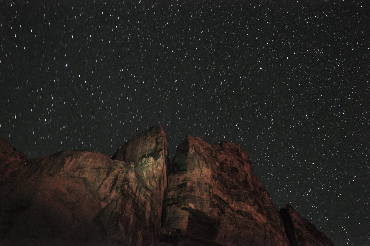 Stars shine bright above the canyon walls in Echo Park.