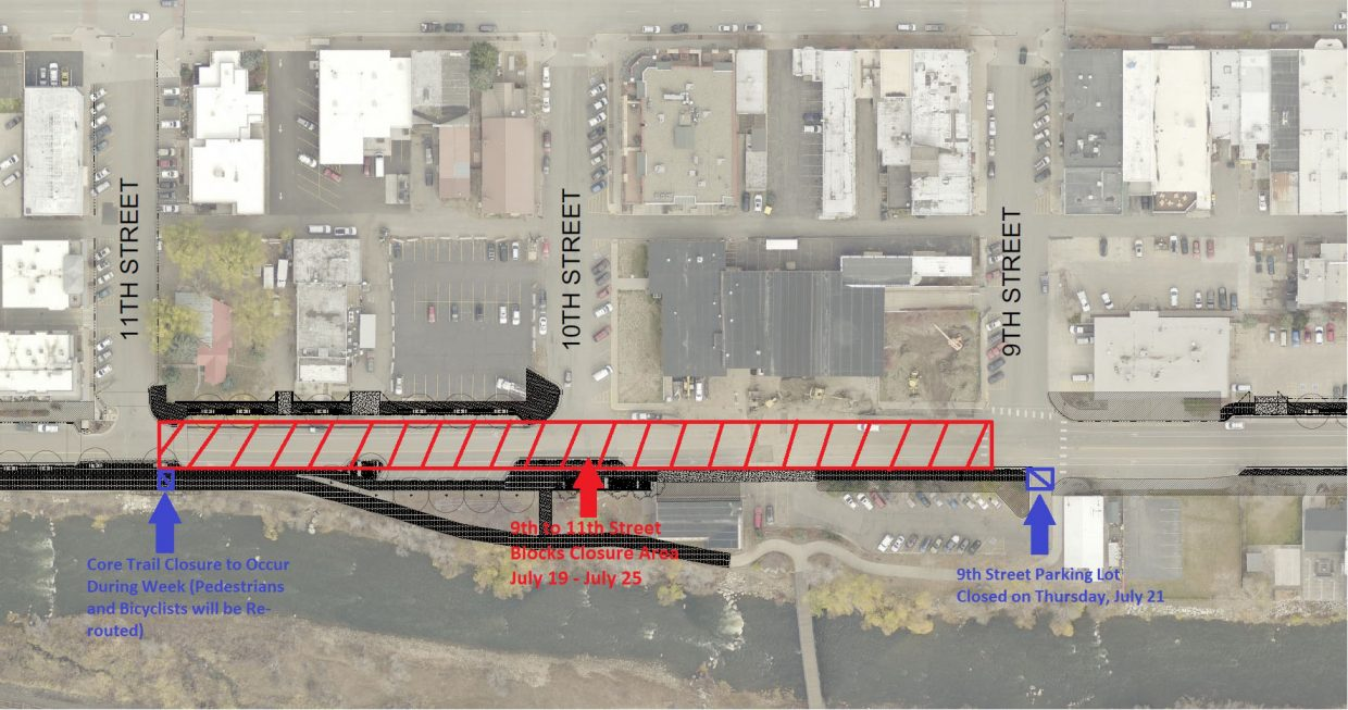 Yampa Street closures for July 19 to 25.