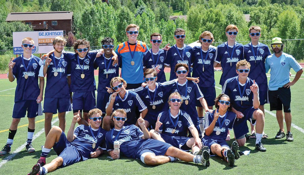 The U19 Steamboat Springs boys soccer team included: in the front row, from left, Ross Stuart, Nathan DePuy, Will Petersen and Hector Lopez; middle row, from left, Tristan Arnis, Jack Straub, Ross VanHara and Charlie Beurskens; and top row, from left, Cannon Reece, Lane Salyer, Cruz Archuleta, Marshall Henry, Andrew McCawley, Ben Anderson, Hugo Snyder, Alexander Coffey, Skyler Nelson, Jack Salyer and coach Hobey Early.