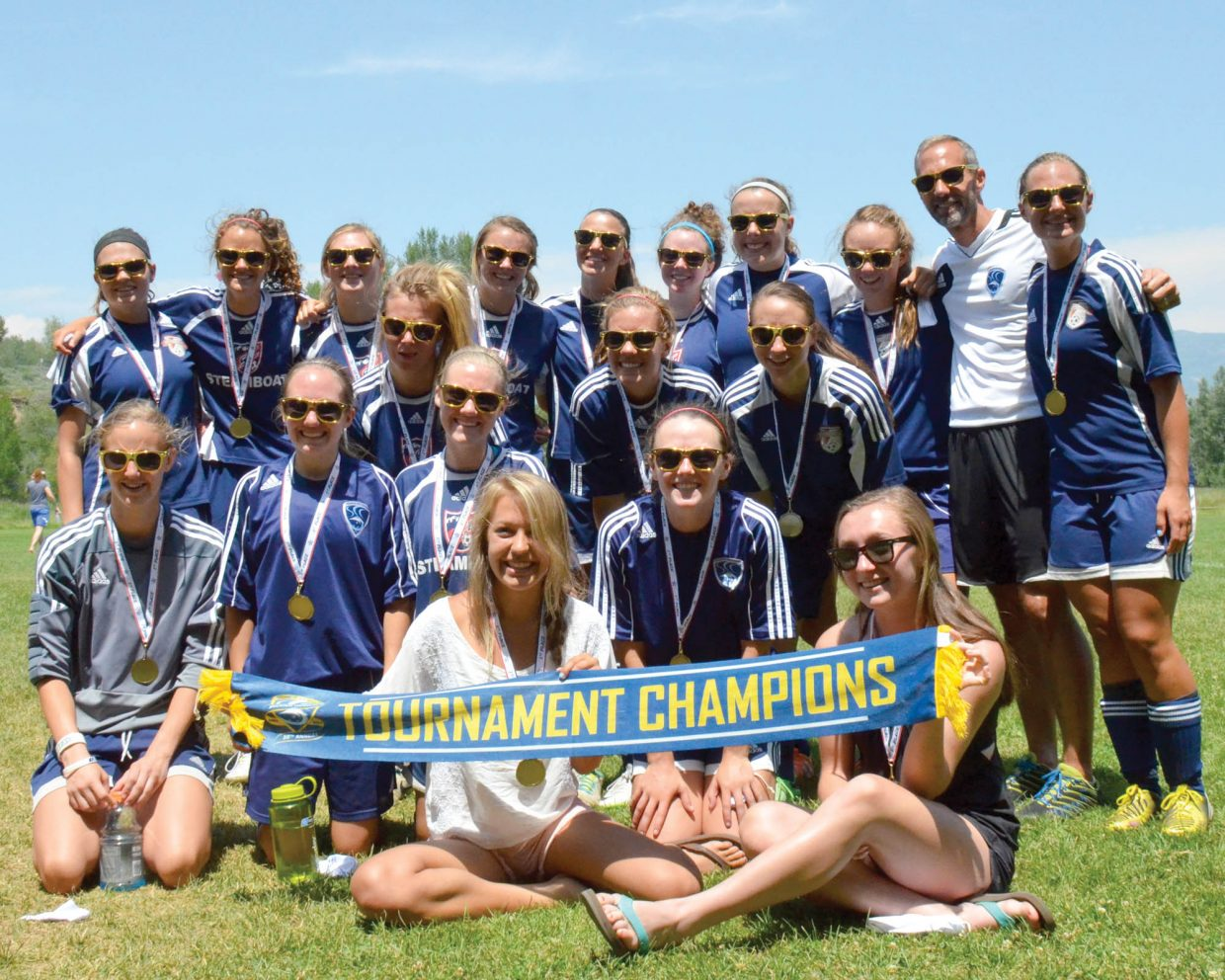 The Steamboat Springs U19 girls team captured a title at last weekend's Steamboat Springs Mountain Soccer Tournament.