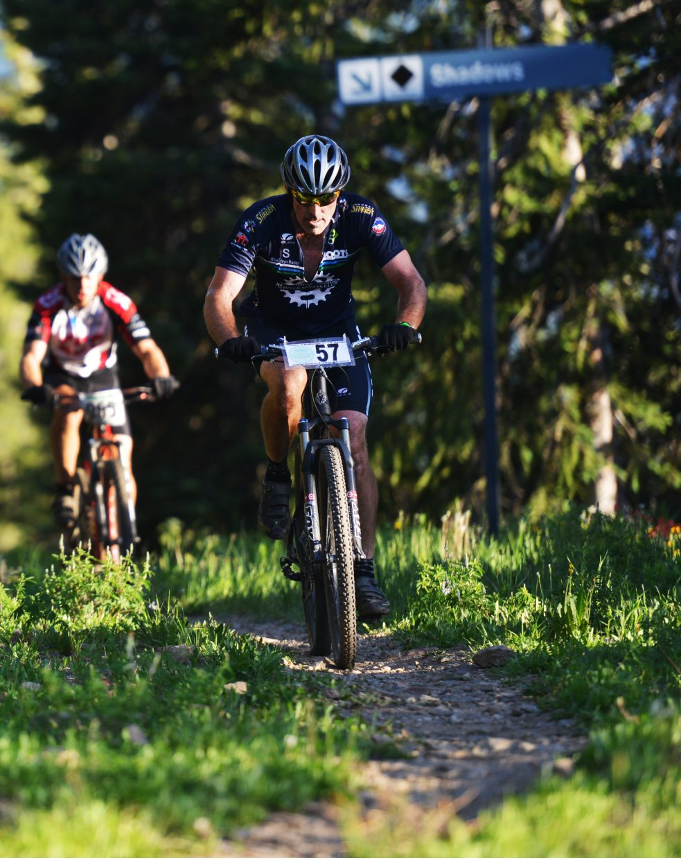 Dan Vargas pedals near the top of Steamboat Ski Area during Wednesday's Town Challenge Mountain Bike race.
