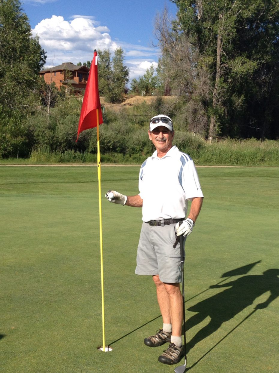 Rich Danter sank his first hole-in-one Wednesday, acing the 116-yard No. 3 hole at Steamboat Golf Club during a men's club competition. It was the third hole in one on the course this summer.