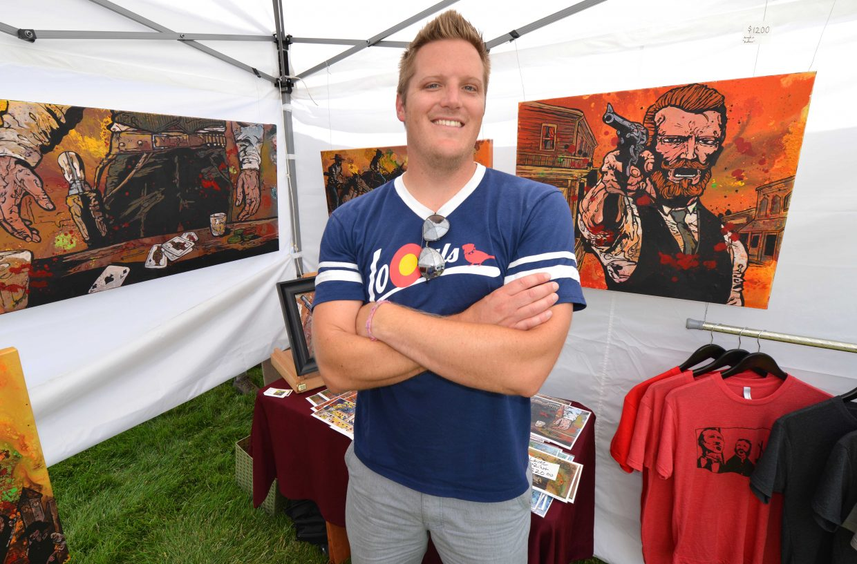 Cody Kuehl has been drawing his entire life, but he did his first art show six years ago in Fort Collins. Now he lives in Denver after he found more gallery opportunities there. This year marks the 41st Art in the Park event.