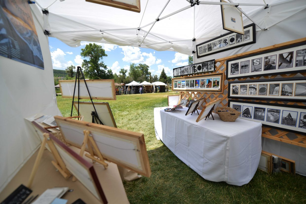 Joel Reichenberger's booth at this year's Art in the Park.