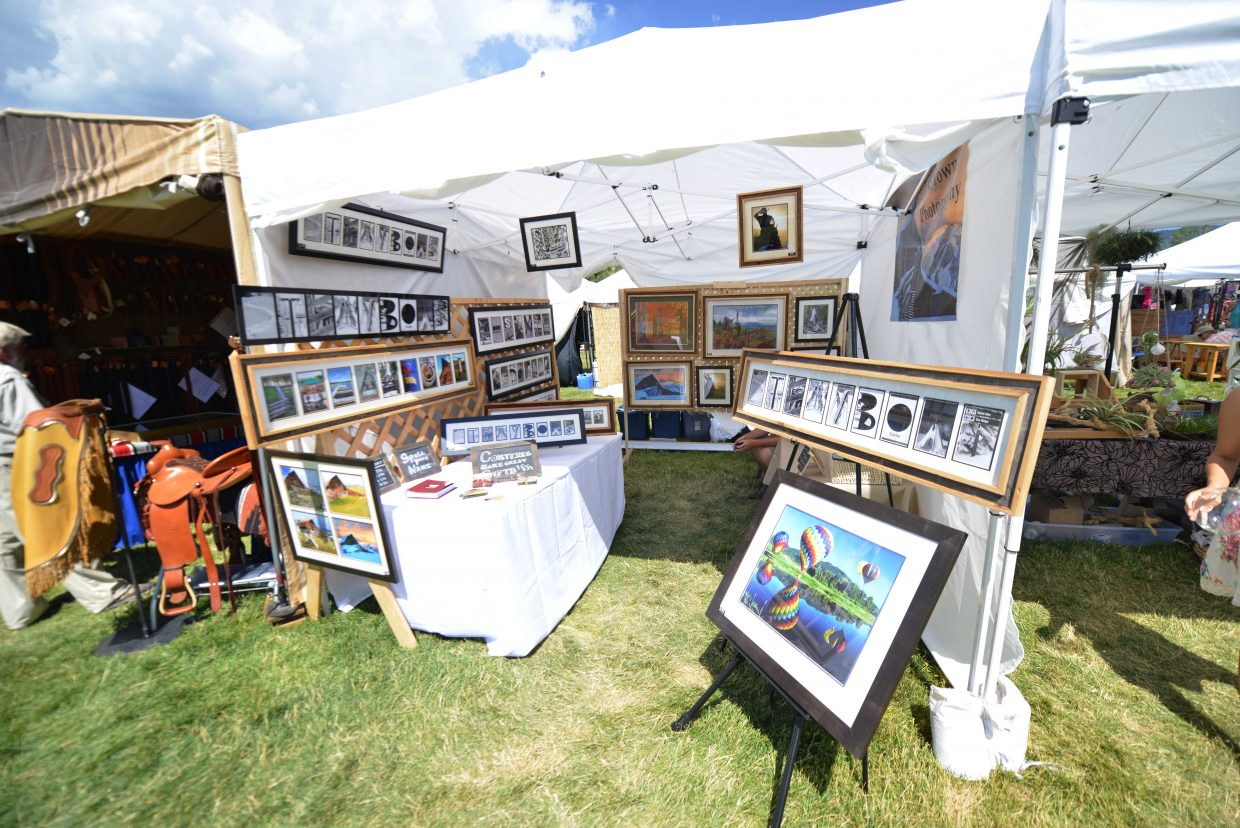 Joel Reichenberger setup at this year's Art in the Park.