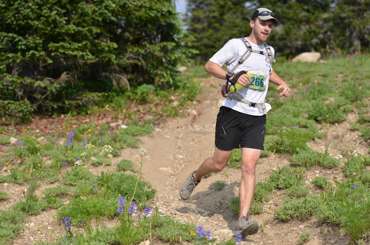 James Meldrum runs Wednesday in the Mount Werner Classic in Steamboat Springs.